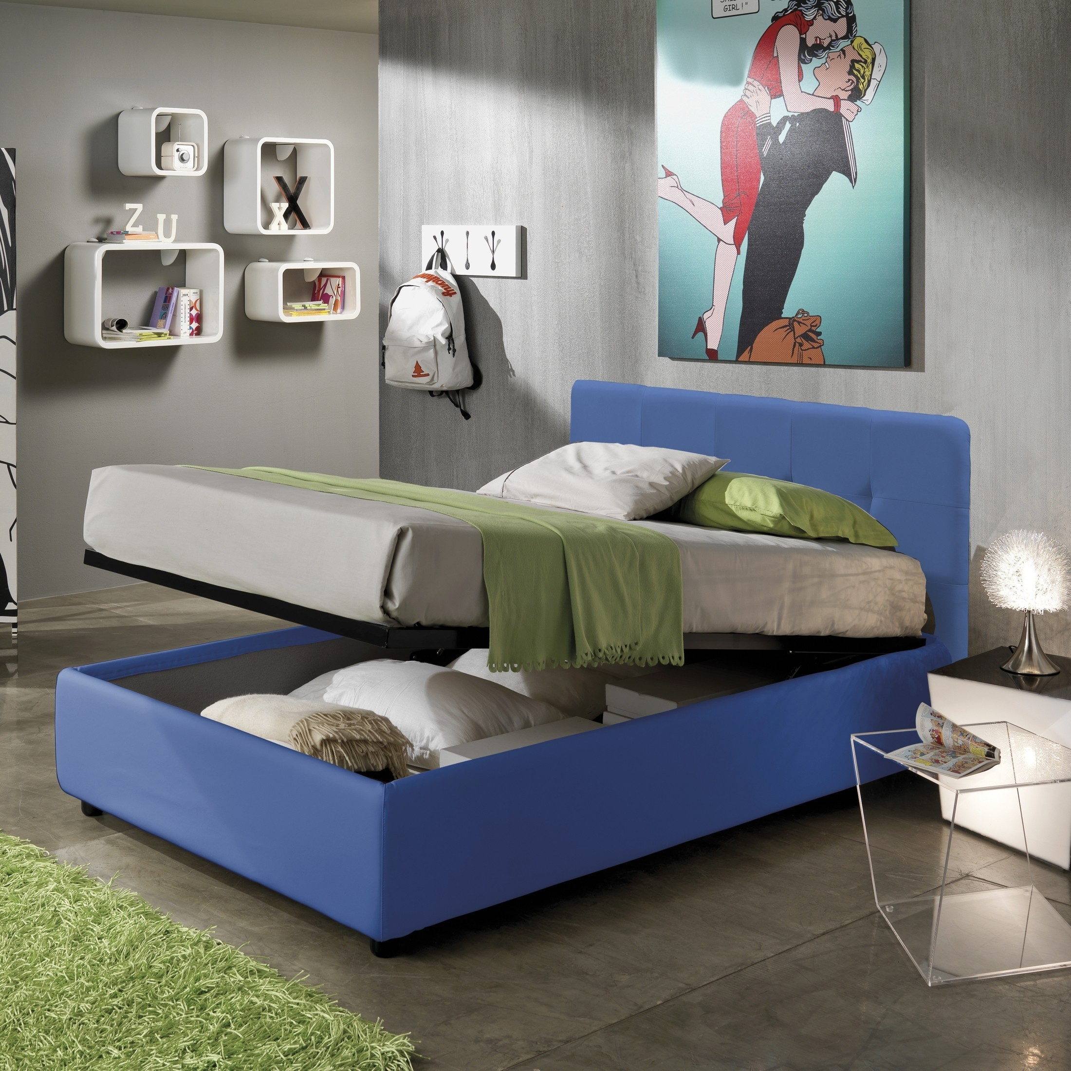 Stunning Letto Contenitore Ecopelle Pictures - ferrorods.us ...