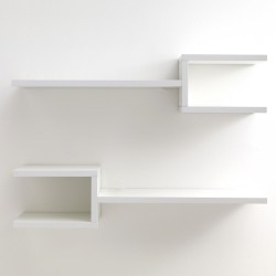 Set 2 mensole da parete modello DIAPASON WHITE - L 75 cm