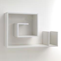 Mensola da parete modello SNAIL WHITE - L 90 cm