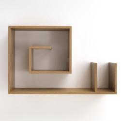 Mensola da parete modello SNAIL WOOD - L 90 cm