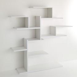 Libreria da parete modello PLANT - Finitura frassino bianco - L 160 cm