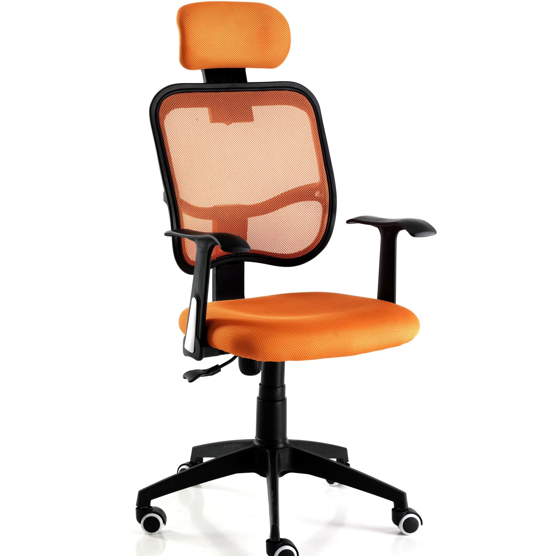 Sedie Da Ufficio Arancione.Sedie E Poltrone Sedia Poltrona Operativa In Tessuto Arancio Da
