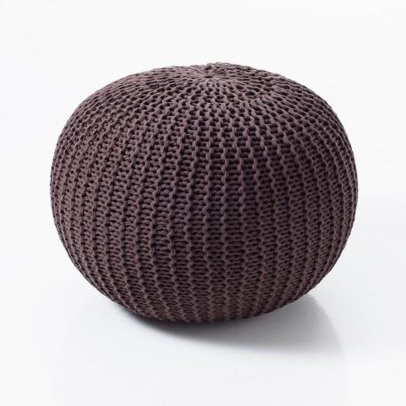 Pouf LIKE BROW - Cotone di colore grigio - Diametro 50 cm