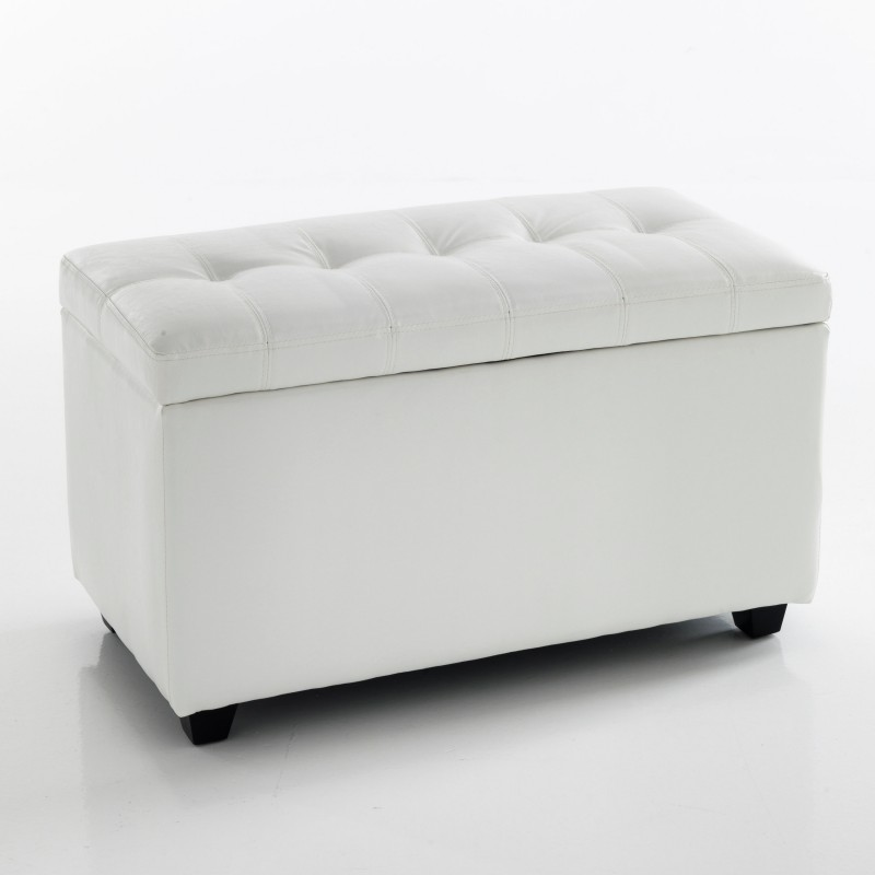cassapanca nice white 80 contenitore pelle bianca l