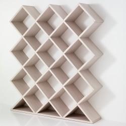 Libreria bi-facciale, parete-centrostanza FORTY-FIVE