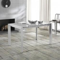Tavolo allungabile bianco in metallo 136/236x85x76 - MODEM