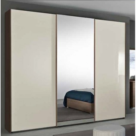 Armadio 3a scorrevole anta liscia e anta centrale specchio - Armadio scorrevole specchio ...