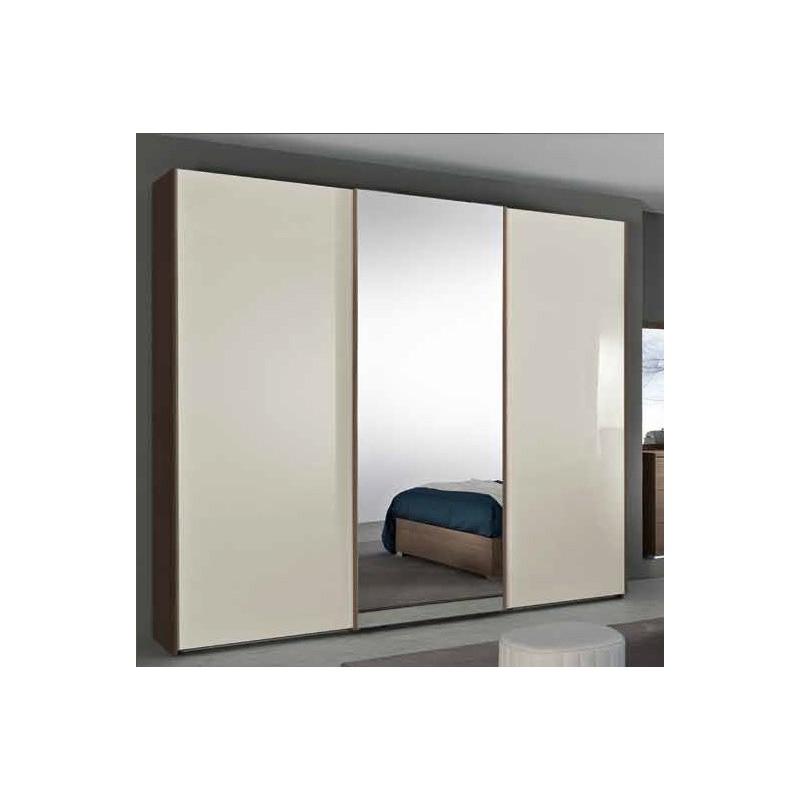 Armadio 3a scorrevole anta liscia e anta centrale - Armadio scorrevole specchio ...