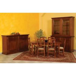 Sala completa in legno massello