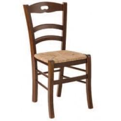 Sedia con foro fondo legno