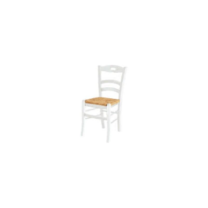 Sedia con foro bianca fondo legno - Sedia legno bianca ...