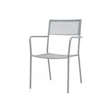 Sedia da esterno in alluminio