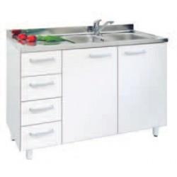 Mobile lavello piu' vasca con cassetti