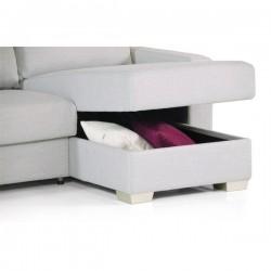 Divano letto due posti trasformabile l 175 cm con apertuta - Divano due posti con chaise longue ...