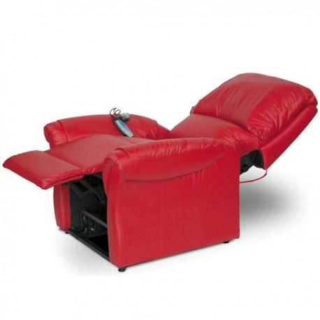 Poltrona Reclinabile Relax.Poltrona Relax Elettrica Reclinabile Con Vibromassaggio E Alzapersona Greta