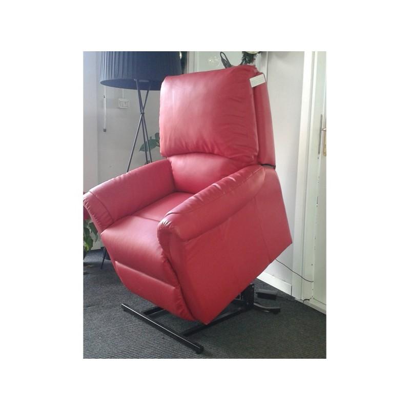 Poltrona relax elettrica reclinabile con vibromassaggio e alzapersona GRETA