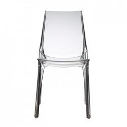 Sedia in policarbonato trasparente impilabile VANITY CHAIR