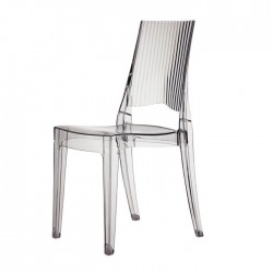 Sedia in policarbonato trasparente impilabile GLENDA