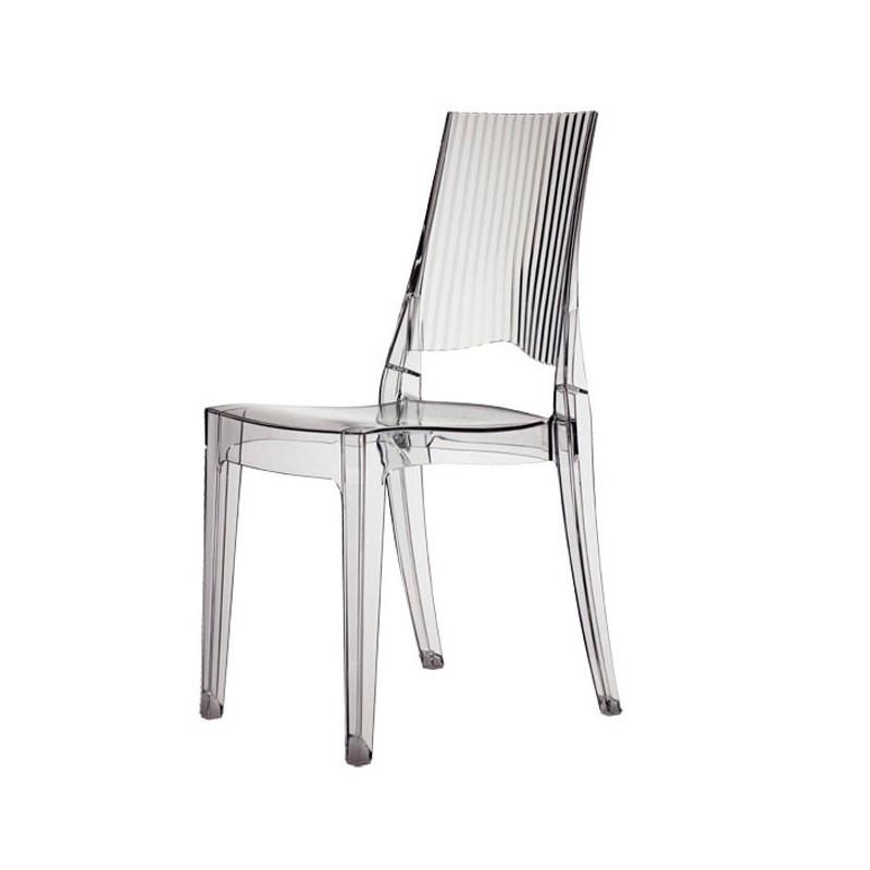 Sedia in policarbonato trasparente impilabile glenda for Sedia ufficio trasparente
