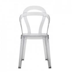 Sedia in policarbonato riciclabile trasparente impilabile TiTì
