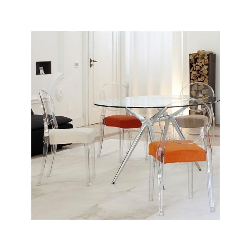 Sedia in policarbonato trasparente impilabile igloo chair for Sedia ufficio trasparente