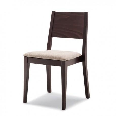 Sedie Impilabili Imbottite.Sedia Alex Impilabile In Legno Con Sedile Imbottito Massello
