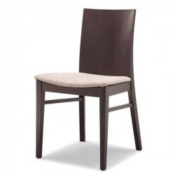 Sedia DEBORA in legno con sedile imbottito