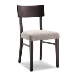 Sedia GIADA in legno con sedile imbottito/massello