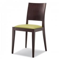 Sedia MONICA in legno con sedile imbottito