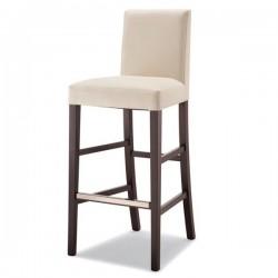 Sgabello ANTONY in legno con sedile e schienale imbottiti