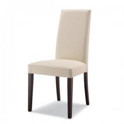 Sedia ANTONY in legno con sedile e schienale imbottiti in ecopelle