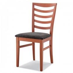 Sedia CARLA  in legno con sedile imbottito