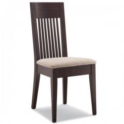 Sedia K4  in legno con sedile imbottito