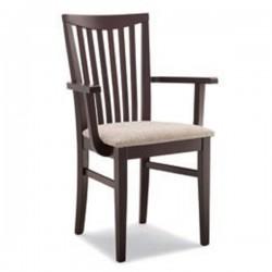 Poltroncina ANNA in legno con sedile imbottito