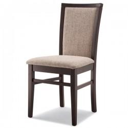 Sedia VIVIANA in legno con sedile e schienale imbottito