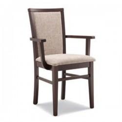 Poltroncina VIVIANA in legno con sedile e schienale imbottito