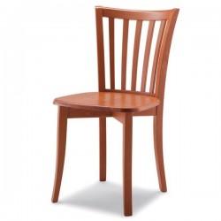 Sedia NATALY in legno con sedile imbottito/paglia/massello