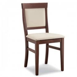 Sedia JESSY in legno con sedile e schienale imbottiti