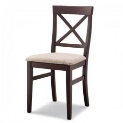Sedia JESSY in legno con sedile imbottito/massello