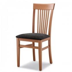 Sedia K1 in legno con sedile imbottito/paglia/massello