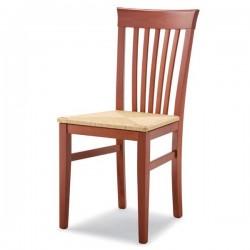 Sedia K2 in legno con sedile imbottito/paglia/massello