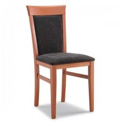 Sedia ELENA in legno con sedile e schienale imbottiti