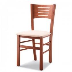 Sedia VERONA in legno con sedile imbottito/paglia/massello