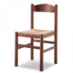 Sedia PISA in legno con sedile paglia