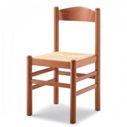 Sedia PISA in legno con sedile imbottito/paglia/massello