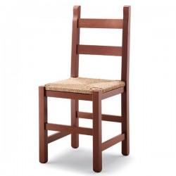 Sedia TAVERNA in legno con sedile paglia/massello