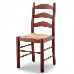 Sedia PEPE in legno con sedile paglia/imbottito