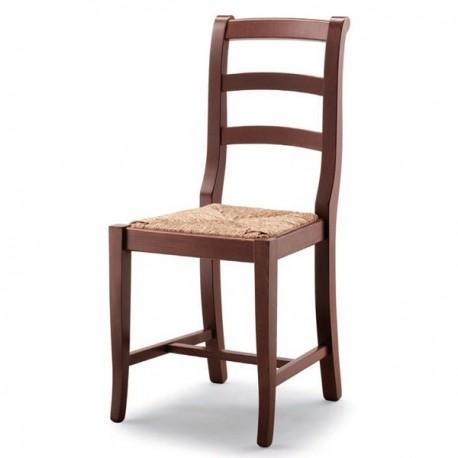 Sedia CAMPAGNOLA in legno con sedile pagliamasselloimbottito