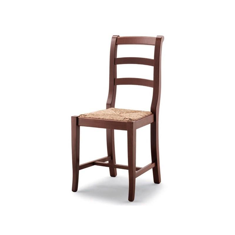 Sedia CAMPAGNOLA in legno con sedile paglia/massello/imbottito