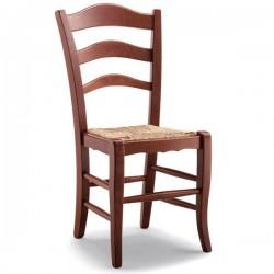 Sedia MONTANARA in legno con sedile paglia/massello/imbottito